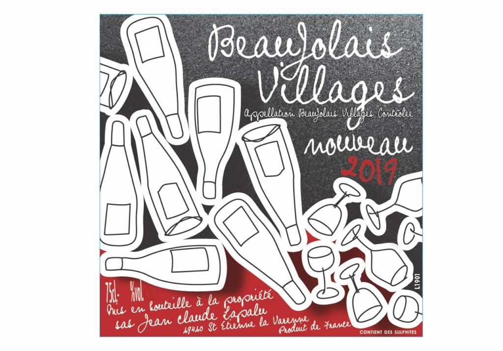 Etiquette Beaujolais nouveau Epicerie de nimes
