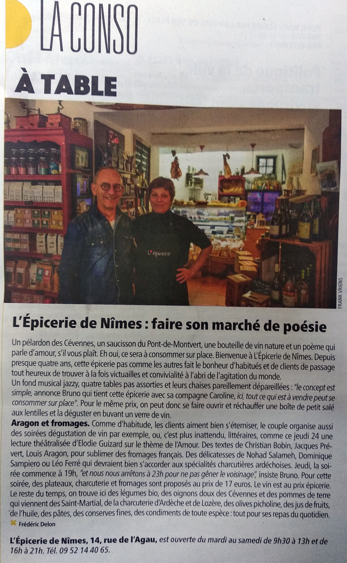 gazette nimes epicerie article presse
