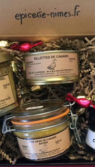 assortiment Canard du Tarn et chutneys Noël epicerie de nimes