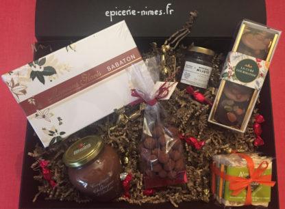 panier-gourmand-cadeau-noel-epicerie de nimes Petites attentions et douceurs du Gard et d'Ardèche